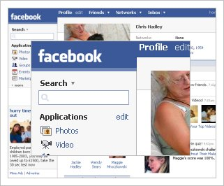picture of facebook interface