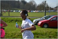 Wendy running stafford half marathon - 5 mile mark