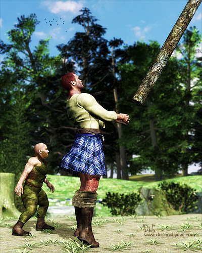 Picture of Giant tossing a caber