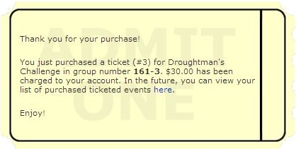 Droughtman's Challenge Entry Ticket