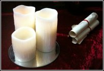 Picture of candles and scroll