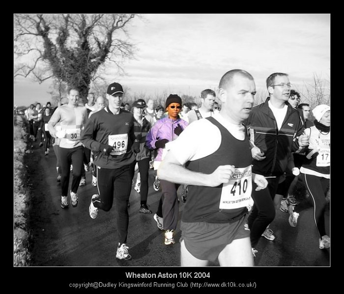 Picture of me at the beginning of the Weaton Aston          10K race, 2004
